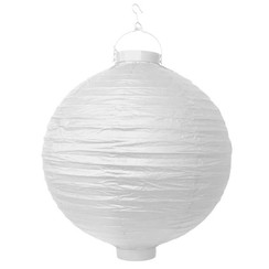 Witte lampion LED 30 cm