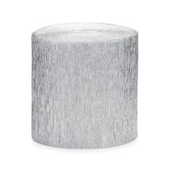 Crepe streamer zilver