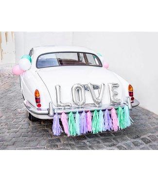 PartyDeco Trouwauto decoratiepakket - Love