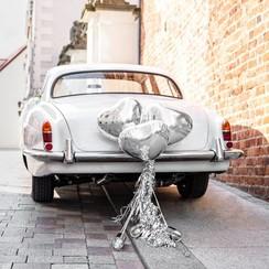 Trouwauto decoratiepakket - Zilver