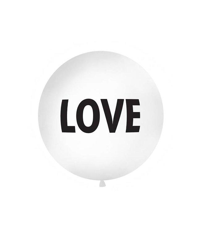 PartyDeco Reuzeballon | LOVE | 100 centimeter