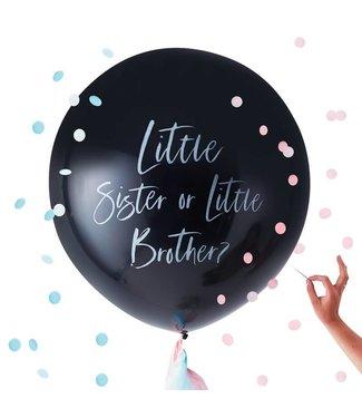 Ginger Ray Gender reveal ballon - Little sister or brother?