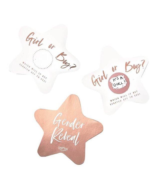 Ginger Ray Scratchkaarten Gender Reveal