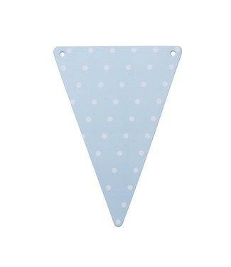 Artifetes Vlaggen blauw met witte stipjes