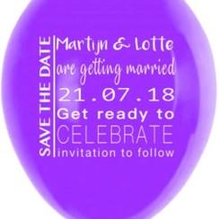 Save the date ballonnen | 50 stuks | Bruiloft