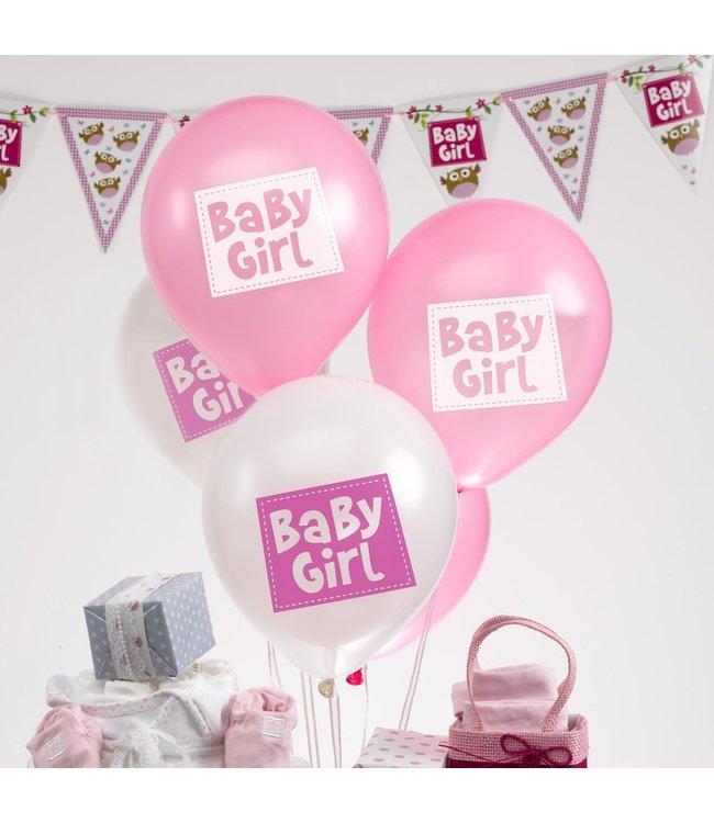 Feestdeco Baby girl - ballonnen