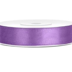 Satijnen lint lavendel 12mm breed- 25m lang