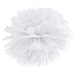 Pompom wit 35 cm