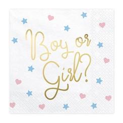 Boy or girl? servetten - Gender reveal
