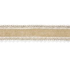 Kanten Jute lint | rand 5cm breed - 5 meter lang