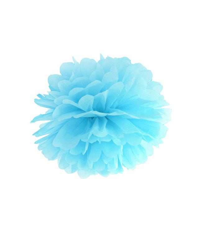 PartyDeco Pompom lichtblauw 25cm