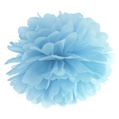 Pompom misty blauw 35 cm