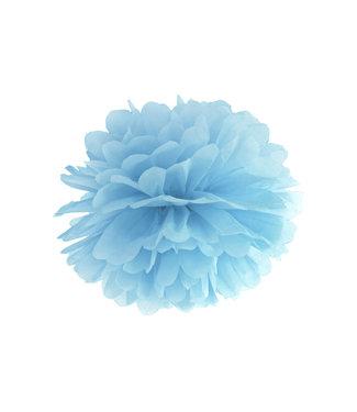 PartyDeco Pompom misty blauw 35 cm