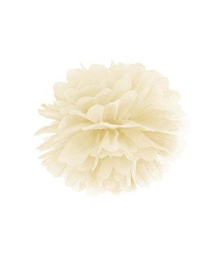 PartyDeco Pompom creme/ivoor 25 cm