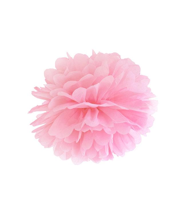 PartyDeco Pompom licht roze 25 cm
