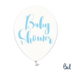 Ballonnen babyshower blauw - 6 stuks