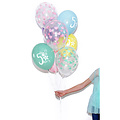 PartyDeco Ballonnen met mintgroene hartjes - 6 stuks