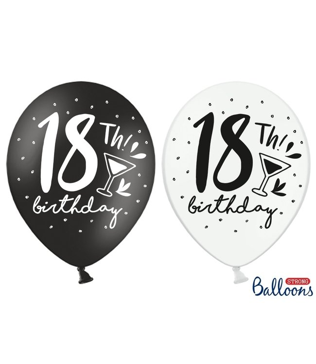 PartyDeco Ballonnen 18th birthday