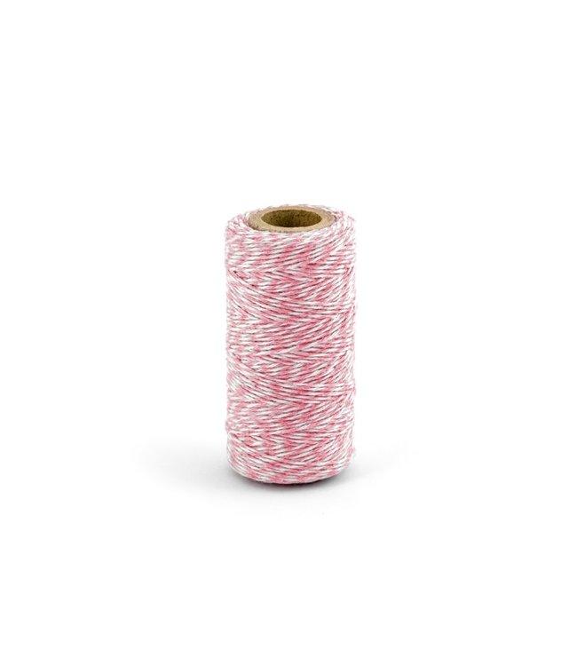 PartyDeco Baker's Twine - licht roze - 50 meter