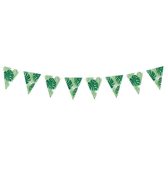 PartyDeco Tropical leaves vlaggenlijn DIY - 1,3 meter