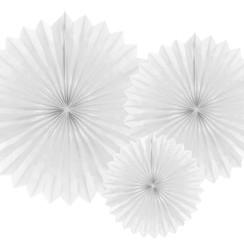 Tissue waaier 3 stuks - wit