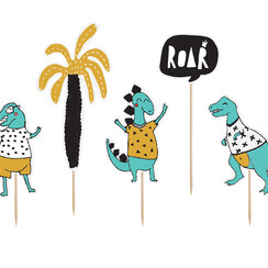 Taarttoppers dinosaurus - 5 delig