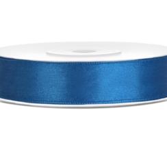 Satijnen lint royal blauw 12mm breed- 25m lang