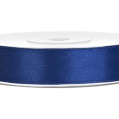 Satijnen lint navy blauw  12mm breed- 25m lang