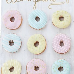 Donutwall wit | Treat yourself | voor 9 donuts