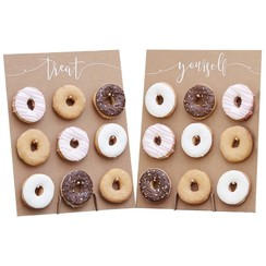 Donutwall kraft | Treat yourself | voor 18 donuts