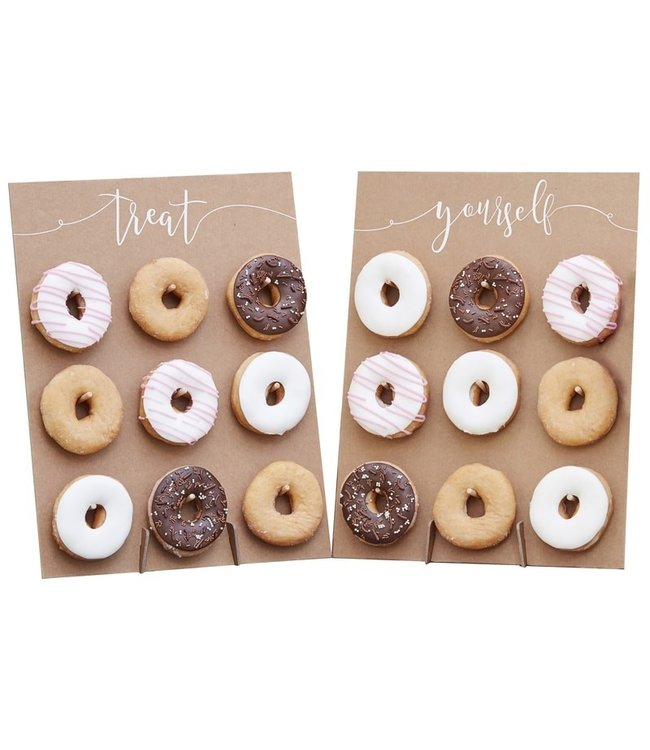 Ginger Ray Donutwall kraft | Treat yourself | voor 18 donuts