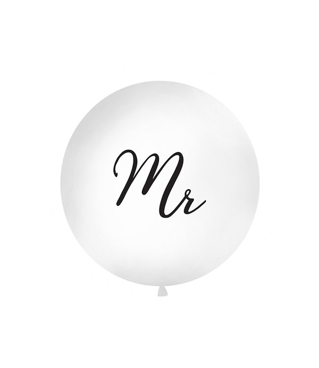 PartyDeco Reuzeballon | Mr | Zwart | 100 centimeter