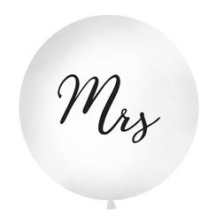 Reuzeballon | Mrs | Zwart | 100 centimeter