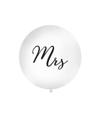 PartyDeco Reuzeballon | Mrs | Zwart | 100 centimeter