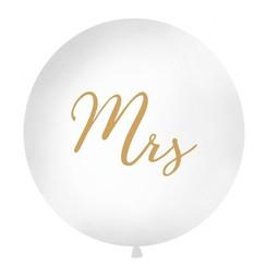 Reuzeballon | Mrs | Goud | 100 centimeter