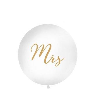 PartyDeco Reuzeballon | Mrs | Goud | 100 centimeter