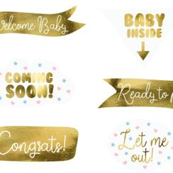 Babyshower Party Props | 6 stuks