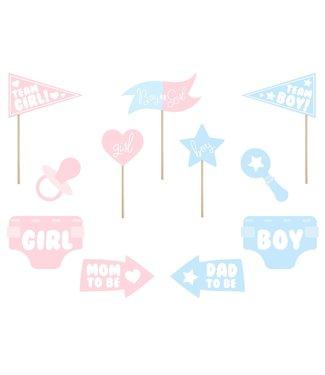 PartyDeco Gender Reveal Party Props | 11 stuks