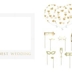 Bruiloft photobooth kit | 12-delig | Mogelijk om te personaliseren