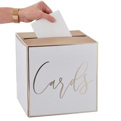Enveloppendoos | Cards | wit-goud | Mogelijk om te personaliseren