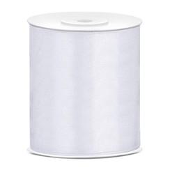 Satijnen lint wit 10 cm breed- 25m lang | Openingslint | Bruiloft