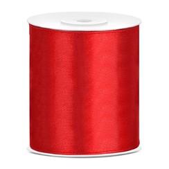 Satijnen lint rood 10cm breed- 25m lang | Openingslint