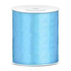 Satijnen lint lichtblauw 10 cm breed- 25m lang | Openingslint