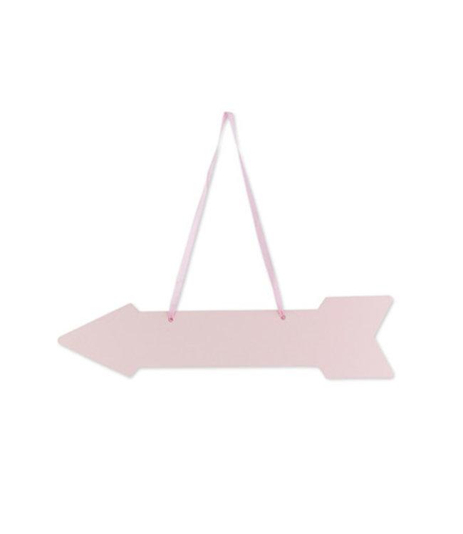 Feestdeco Wegwijzer pijlen poeder roze