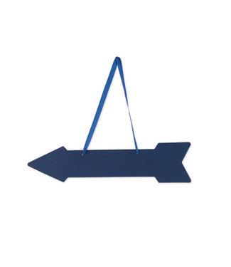 Feestdeco Wegwijzer pijlen blauw