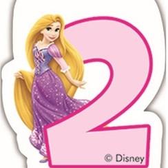 Taartkaarsje Disney prinses 2 jaar