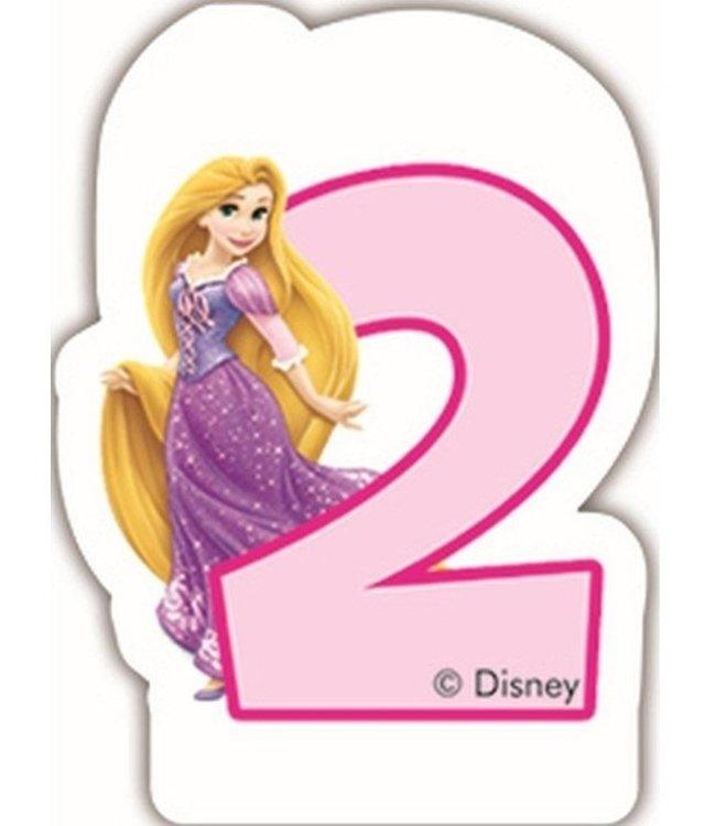 Globos Taartkaarsje Disney prinses 2 jaar