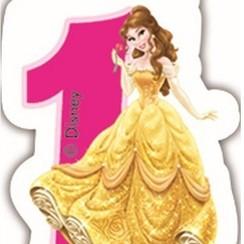 Taartkaarsje Disney prinses 1 jaar