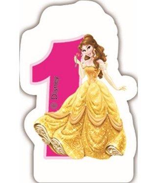 Globos Taartkaarsje Disney prinses 1 jaar