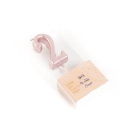 Verjaardagskaars cijfer 2 | Rose goud